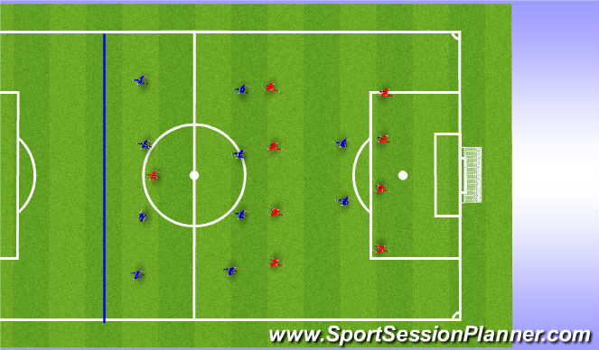 Football/Soccer Session Plan Drill (Colour): Game Sized Practice