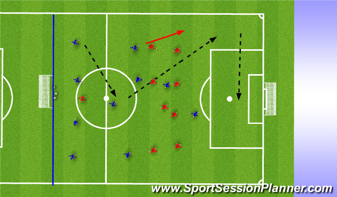 Football/Soccer Session Plan Drill (Colour): Picture 1