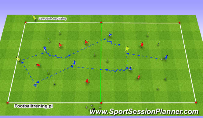 Football/Soccer Session Plan Drill (Colour): Schemat