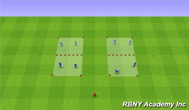 Football/Soccer Session Plan Drill (Colour): Soccer Tennis - on arrival
