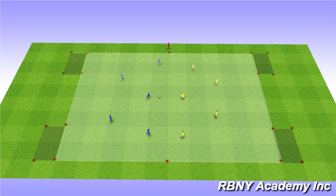 Football/Soccer Session Plan Drill (Colour): Condition Game - Endzones