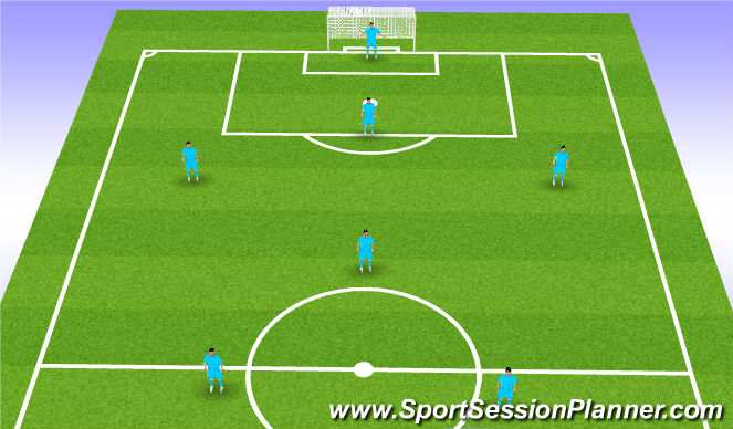 Football/Soccer Session Plan Drill (Colour): 1-1-2-1-2