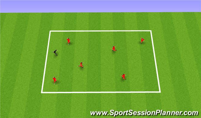 Football/Soccer Session Plan Drill (Colour): Warm Up Spidertag (15mins)