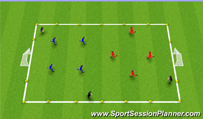 Football/Soccer Session Plan Drill (Colour): Game (20-25mins)
