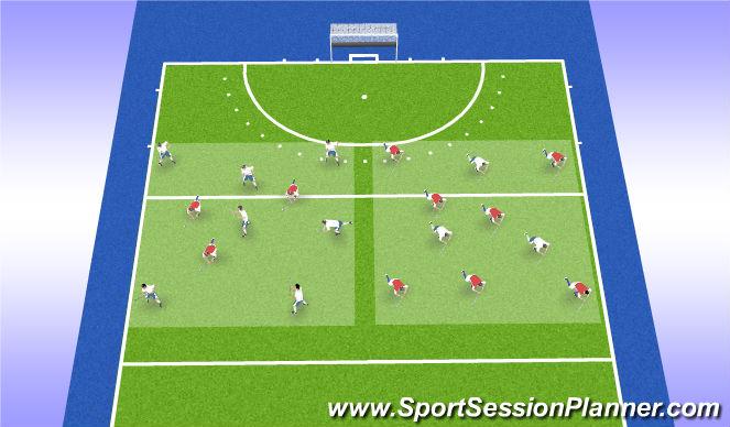 Hockey Session Plan Drill (Colour): Explore Rondo