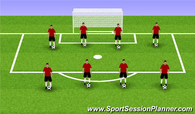 Football/Soccer Session Plan Drill (Colour): Summer ODP 1st Session Week 7