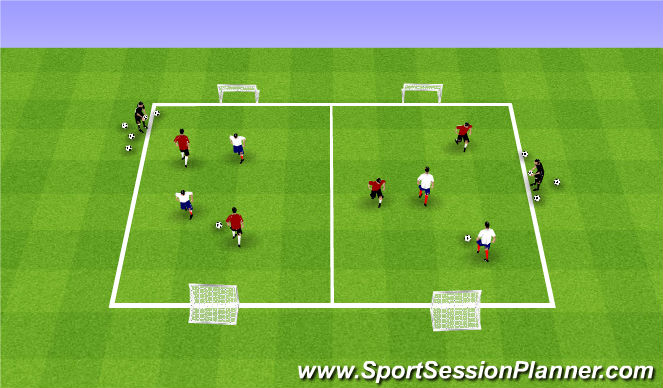 Football/Soccer Session Plan Drill (Colour): Summer ODP Week 8 1st session