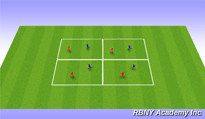 Football/Soccer Session Plan Drill (Colour): Warm up: Knee Tag