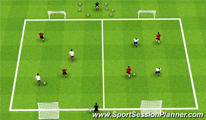 Football/Soccer Session Plan Drill (Colour): Summer ODP Week 9 1st Session