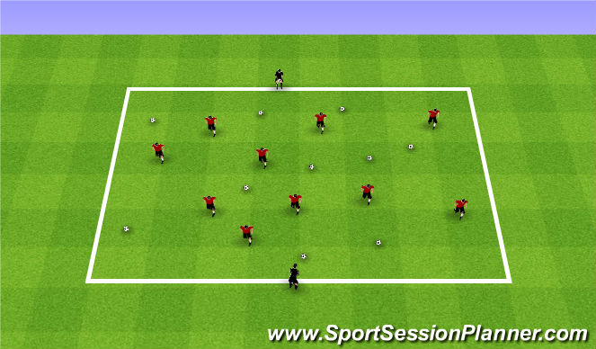 Football/Soccer Session Plan Drill (Colour): Summer ODP Week 10 1st Session