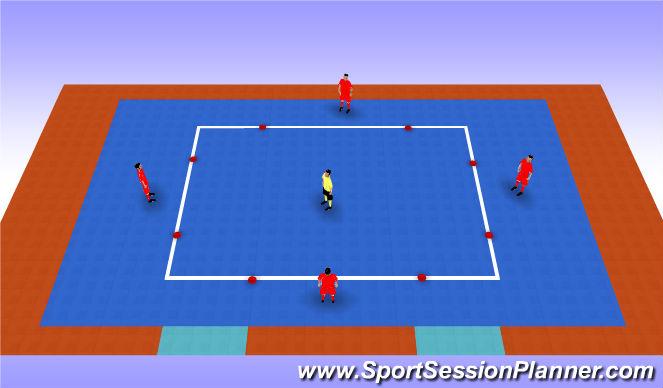 Futsal Session Plan Drill (Colour): Rondos