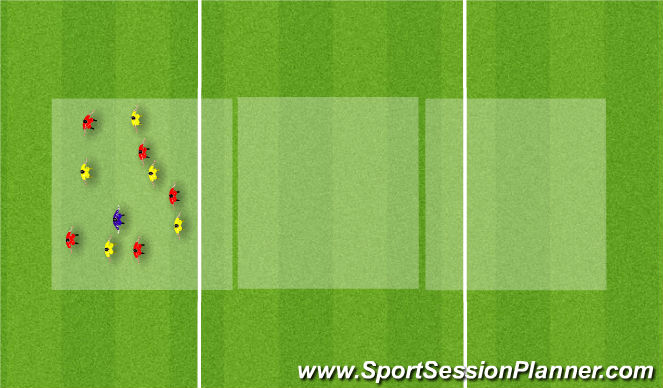 Football/Soccer Session Plan Drill (Colour): Three Box Possession