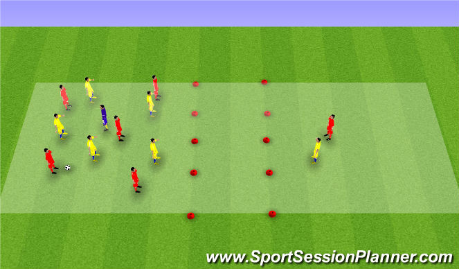 Football/Soccer Session Plan Drill (Colour): Target Man Possession
