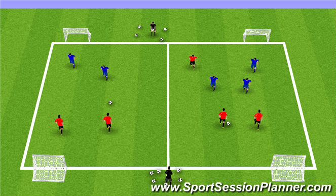 Football/Soccer Session Plan Drill (Colour): Summer ODP Week 11 1st Session