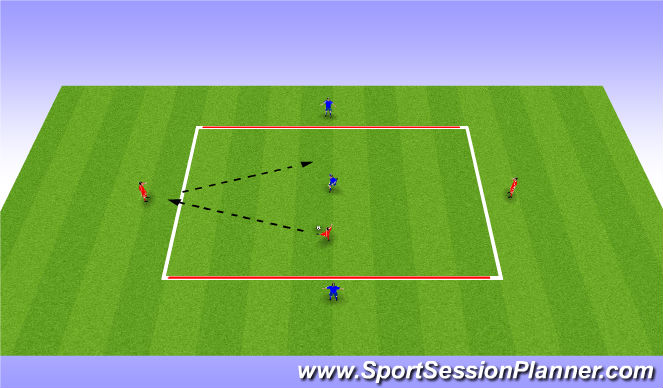 Football/Soccer Session Plan Drill (Colour): Tactical Practice
