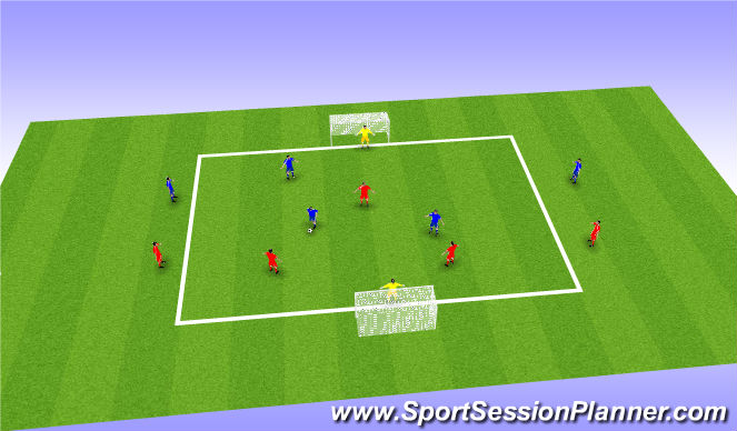Football/Soccer Session Plan Drill (Colour): Match Practice