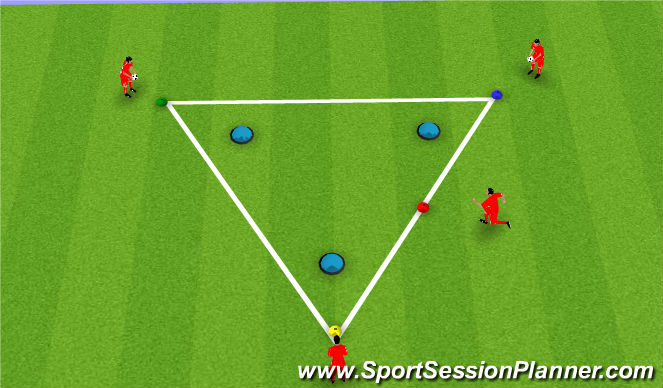 Football/Soccer Session Plan Drill (Colour): Balance & Coordination