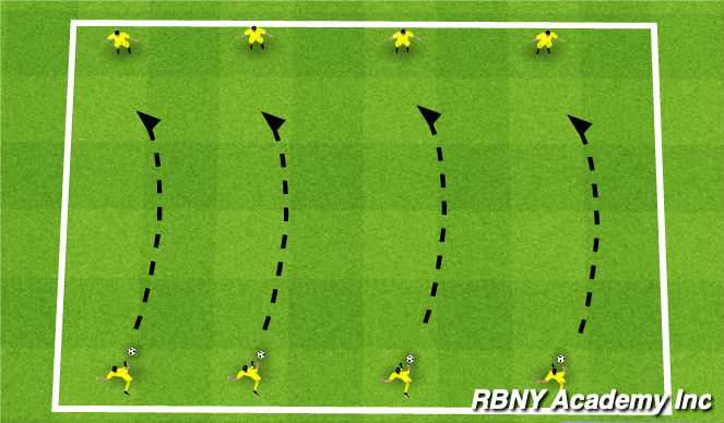 Football/Soccer Session Plan Drill (Colour): Long Balls