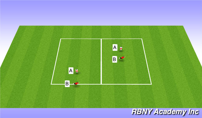 Football/Soccer Session Plan Drill (Colour): Volleys/Heading