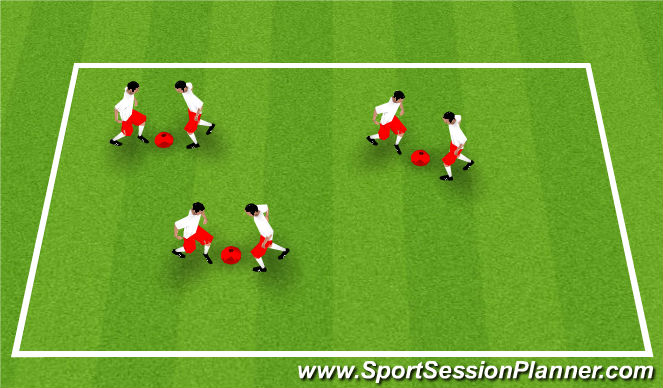 Football/Soccer Session Plan Drill (Colour): Knee Boxing