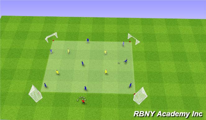 Football/Soccer Session Plan Drill (Colour): Rondo - 8v4