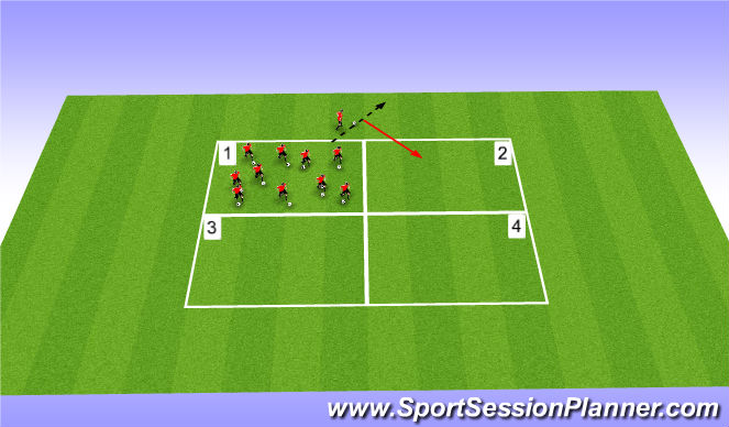 Football/Soccer Session Plan Drill (Colour): King of the ring - World war