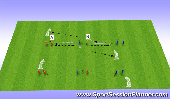 Football/Soccer Session Plan Drill (Colour): Teamplay