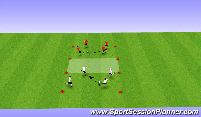Football/Soccer Session Plan Drill (Colour): Passing & Movement