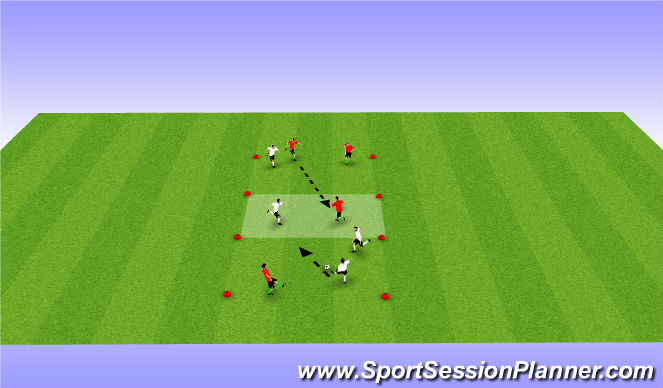 Football/Soccer Session Plan Drill (Colour): Passing & Transition