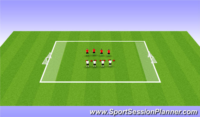 Football/Soccer Session Plan Drill (Colour): Cool Down  Mental Awareness