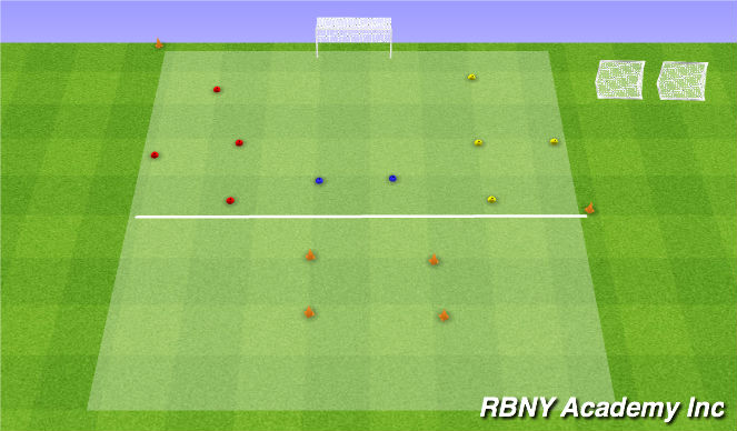 Football/Soccer Session Plan Drill (Colour): Practice Field Layout