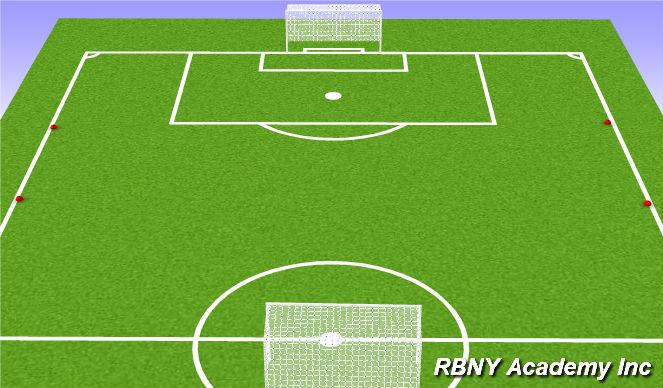 Football/Soccer Session Plan Drill (Colour): Free Play - 6vs6 w/bo lines