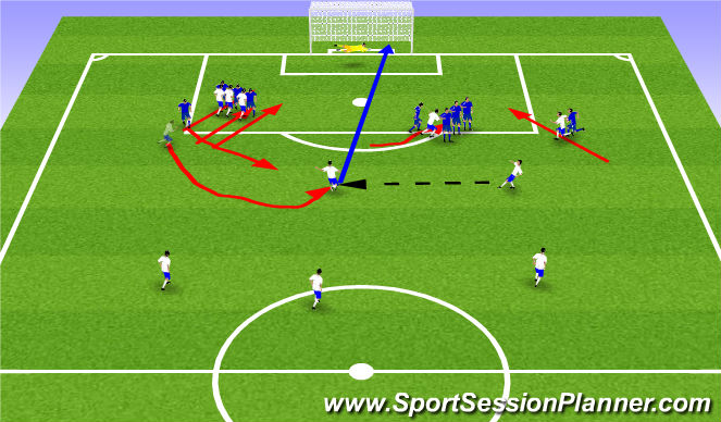 Football/Soccer Session Plan Drill (Colour): Aukaspyrnur 1