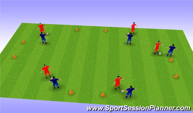 Football/Soccer Session Plan Drill (Colour): Defn WU