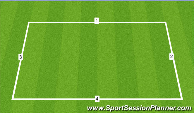 Football/Soccer Session Plan Drill (Colour): Agility/Speed work 2