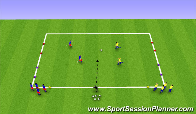 Football/Soccer Session Plan Drill (Colour): Analytical: Numbers