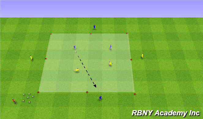 Football/Soccer Session Plan Drill (Colour): Main Activity - 2v2 to targets