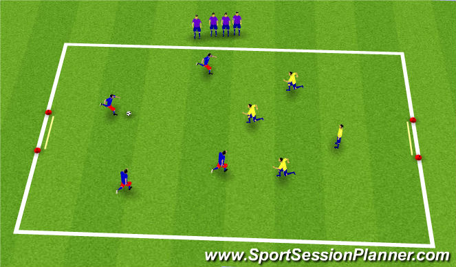 Football/Soccer Session Plan Drill (Colour): Global: 4v4