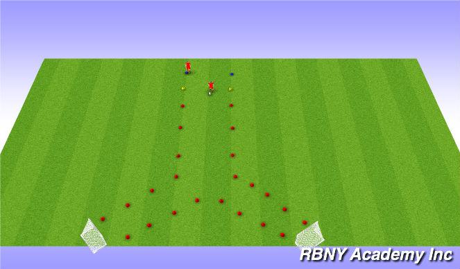 Football/Soccer Session Plan Drill (Colour): Shielding & Dribbling
