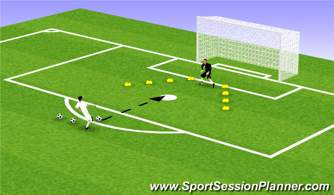 Football/Soccer Session Plan Drill (Colour): Animation 4