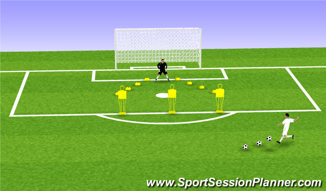 Football/Soccer Session Plan Drill (Colour): Animation 5