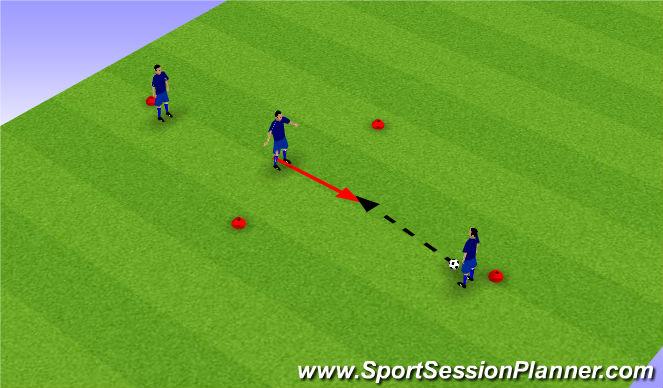 Football/Soccer Session Plan Drill (Colour): Basic Soccer Movement Passing