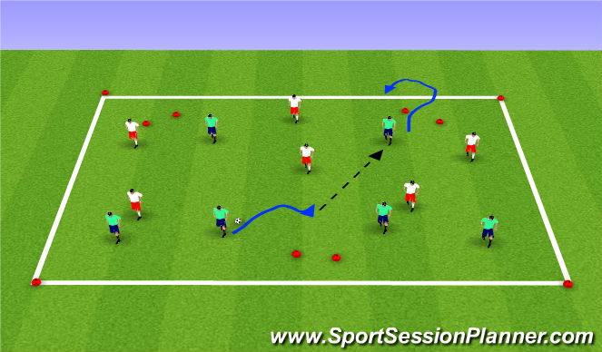 Football/Soccer Session Plan Drill (Colour): SSG-Gates