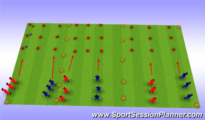 Football/Soccer Session Plan Drill (Colour): Tic-Tac-Toe