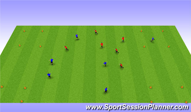 Football/Soccer Session Plan Drill (Colour): Four Box Possession