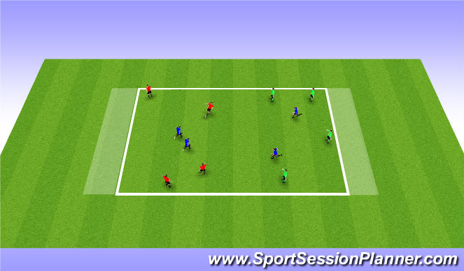 Football/Soccer Session Plan Drill (Colour): SSG - End Zones