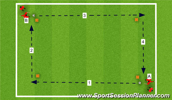 Football/Soccer Session Plan Drill (Colour): DAY3 training 1