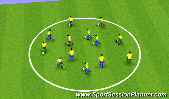Football/Soccer Session Plan Drill (Colour): Skills Circle