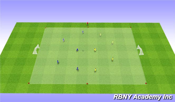 Football/Soccer Session Plan Drill (Colour): Game - 5v5s