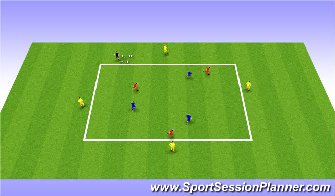 Football/Soccer Session Plan Drill (Colour): Rondo/ Technical